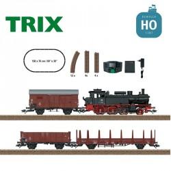 Coffret de départ digital Train marchandises Vapeur DB Ep III HO Trix T21528 - Maketis