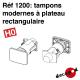 Tampons modernes à plateau rectangulaire (4 pcs) HO Decapod 1200 - Maketis