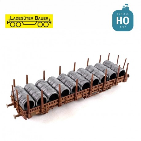 Bobines de fils d'acier HO Ladegüter Bauer H01077 - Maketis