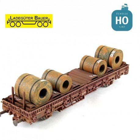 Blechcoils lose, 4 Stück HO Ladegüter Bauer H01081 - Maketis