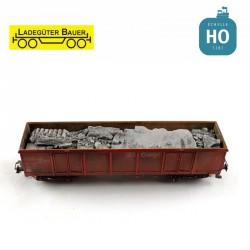 Débris de béton pour wagon Eaos HO Ladegüter Bauer H01233