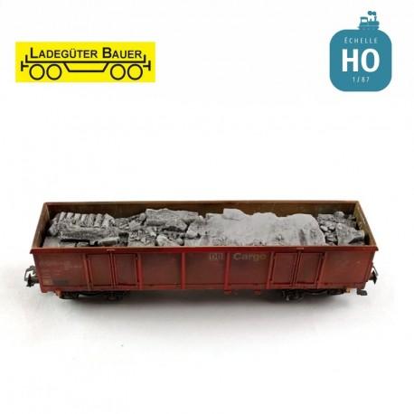 Débris de béton pour wagon Eaos HO Ladegüter Bauer H01233 - Maketis