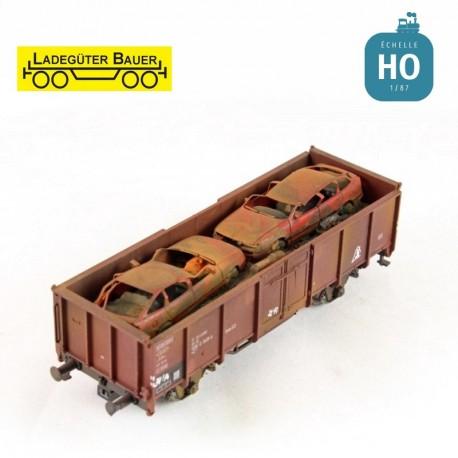 Schrottwagen für Achslastwagen H0 Ladegüter Bauer H01142 - Maketis