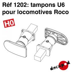 Tampons U6 pour locomotive Roco (4 pcs) HO Decapod 1202