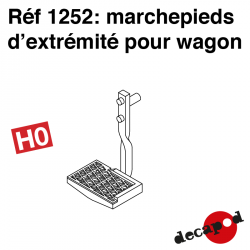 Marchepieds d'extrémité pour wagon marchandise (2 pcs) HO Decapod 1252