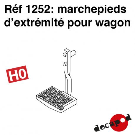 Marchepieds d'extrémité pour wagon marchandise (2 pcs) HO Decapod 1252 - Maketis
