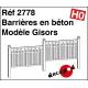 Concrete barriers model Gisors H0 Decapod 2778 - Maketis