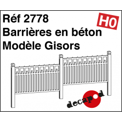 Barrières en béton modèle Gisors HO Decapod 2778 - Maketis