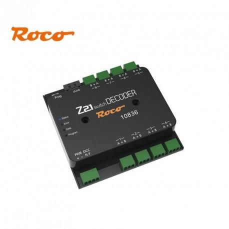 Décodeur moteurs aiguillages (x 8) Switch Decoder Z21 Roco 10836 - Maketis