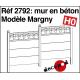 Concrete wall model Margny H0 Decapod 2792 - Maketis