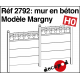 Mur en béton modèle Margny HO Decapod 2792 - Maketis