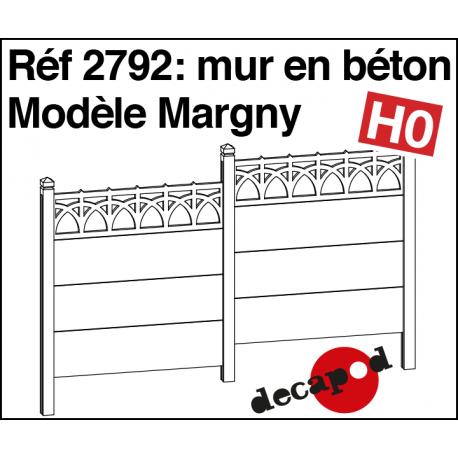Betonwand Modell Margny H0 Decapod 2792 - Maketis