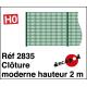 Moderne Zaunhöhe 2m H0 Decapod 2835 - Maketis