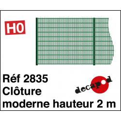 Clôture moderne hauteur 2m HO Decapod 2835 - Maketis