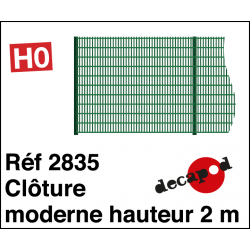 Modern fence 2m high H0 Decapod 2835 - Maketis
