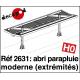 Moderner Schirmunterstand: 2 Abschlusselemente H0 Decapod 2631 - Maketis