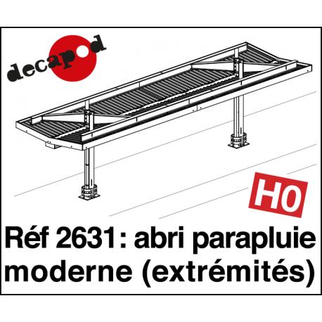 Modern umbrella shelter: 2 end elements H0 Decapod 2631 - Maketis