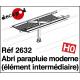 Abri parapluie moderne : 1 élément intermédiaire HO Decapod 2632 - Maketis