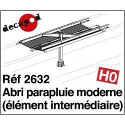 Modern umbrella shelter: 1 intermediate element H0 Decapod 2632 - Maketis
