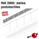 Dalles podotactiles HO Decapod 2900 - Maketis