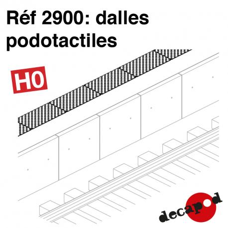 Podotactile tiles H0 Decapod 2900 - Maketis