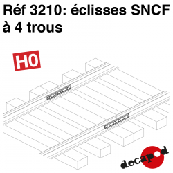 Eclisses SNCF à 4 trous HO Decapod 3210 - Maketis
