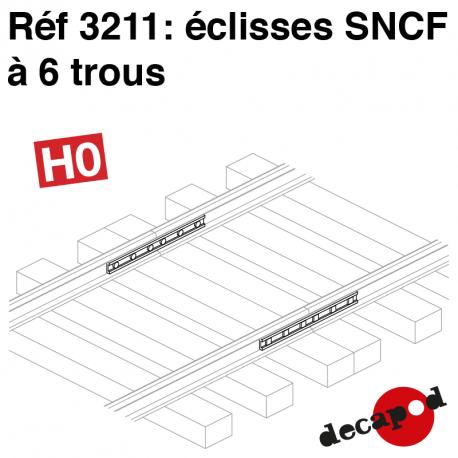 Eclisses SNCF à 6 trous HO Decapod 3211 - Maketis