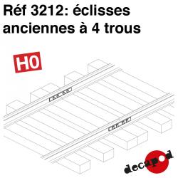 Eclisses anciennes à 4 trous HO Decapod 3212 - Maketis