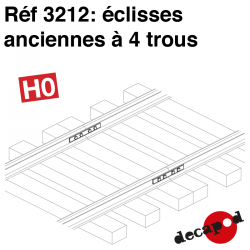 Eclisses anciennes à 4 trous HO Decapod 3212 - Maketis
