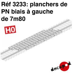 Plancher de PN biais à gauche de 7m80 HO Decapod 3233 - Maketis