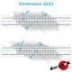 7m80 linkswinkliger Kreuzungsboden H0 Decapod 3233 - Maketis