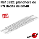 Plancher de PN droit de 8m40 HO Decapod 3232 - Maketis
