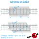8m40 of Straight railway crossing floor H0 Decapod 3232 - Maketis