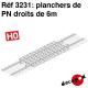 Plancher de PN droit de 6m HO Decapod 3231 - Maketis