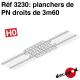 Plancher de PN droit de 3m60 HO Decapod 3230 - Maketis