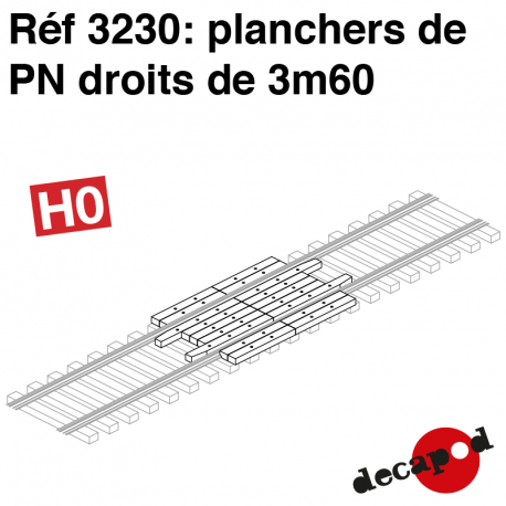 3m60 of Straight railway crossing floor H0 Decapod 3230 - Maketis