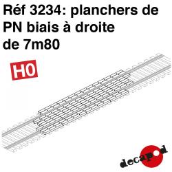 Rechtwinkliger 7,80m Bahnübergangsböden H0 Decapod 3234