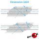 Rechtwinkliger 7,80m Bahnübergangsböden H0 Decapod 3234 - Maketis