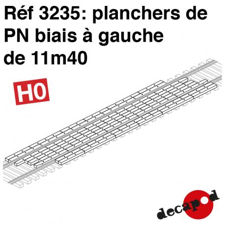 Plancher de PN biais à gauche de 11m40 HO Decapod 3235 - Maketis