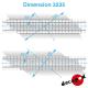 11m40 left angled railway crossing flooring H0 Decapod 3235 - Maketis