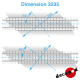 Linkswinkliger 11,40m Bahnübergangsböden H0 Decapod 3235 - Maketis