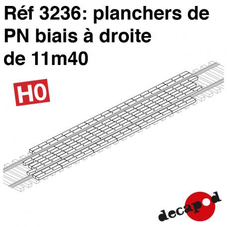 Plancher de PN biais à droite de 11m40 HO Decapod 3236 - Maketis