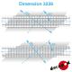 11m40 right-angled railway crossing flooring H0 Decapod 3236 - Maketis