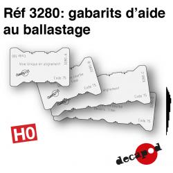 Ballastierungsschablone H0 Decapod 3280 - Maketis