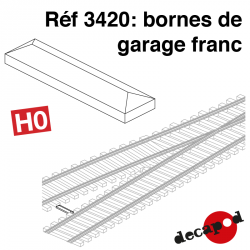 Bornes de garage franc (10 pcs) HO Decapod 3420 - Maketis