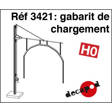 Gabarit de chargement HO Decapod 3421 - Maketis