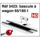 Bascule à wagon 65/160 t HO Decapod 3423 - Maketis