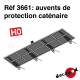 Catenary protection canopies H0 Decapod 3661 - Maketis