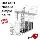 Einzelne hohe Plattform H0 Decapod 4131 - Maketis