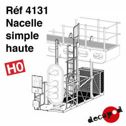 Nacelle simple haute HO Decapod 4131 - Maketis